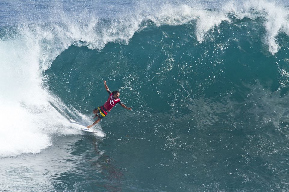 You have to pay to play at Padang Padang. Made Lana breaking the first board of the day.