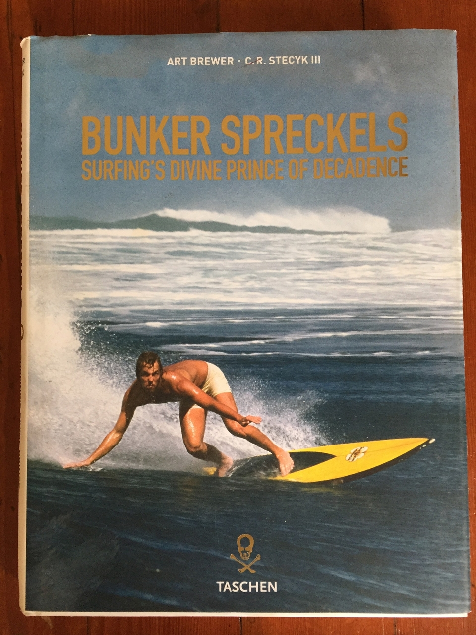 Bunker surfing the North Shore of Kauai, 1973. Taschen book, released in 2007.