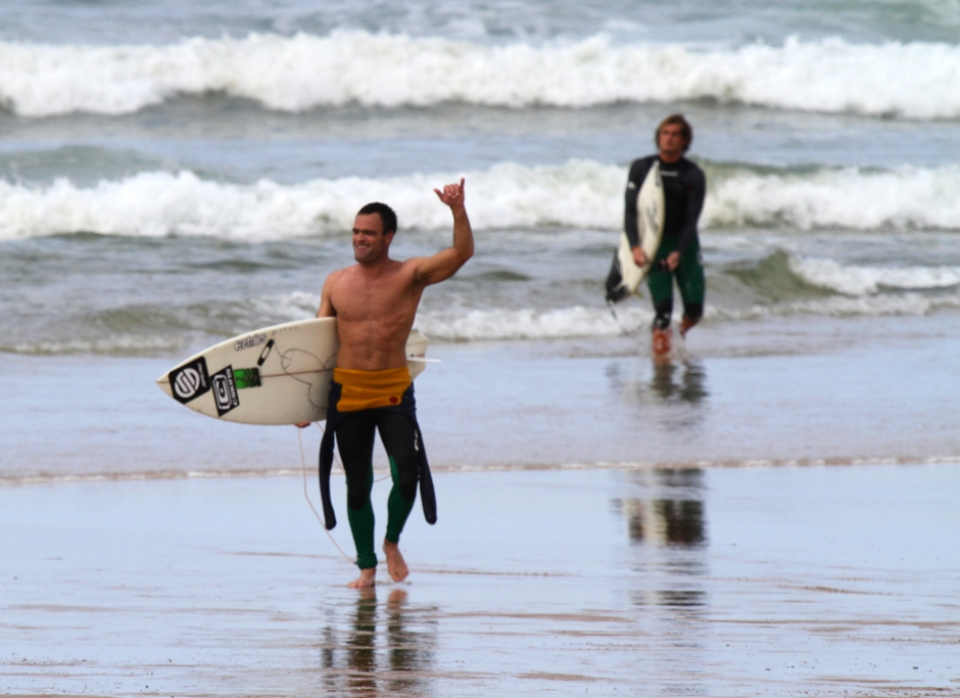 Super stoked grom and Josh Piper behind.