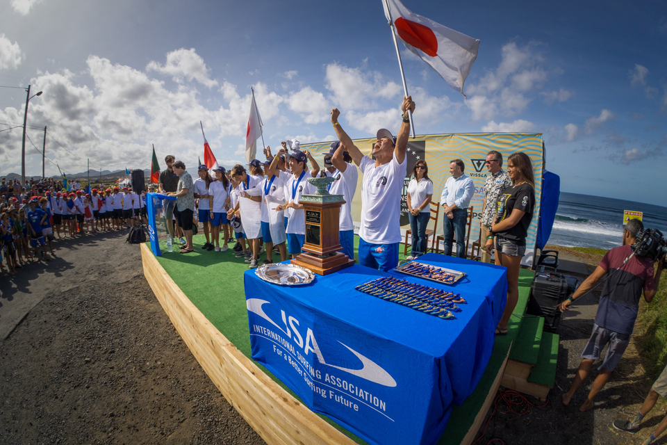 Team Japan took their first podium finish in last year's games.