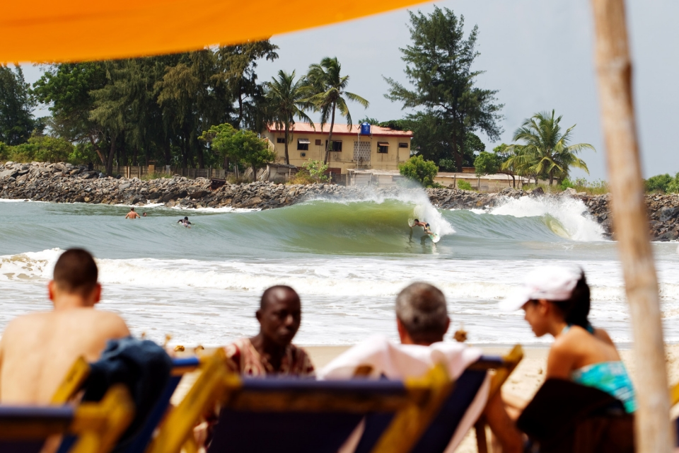 John Micheletti at the Nigerian wedge. Another new discovery in a country not known for surf. It boggles the mind at how much untapped potential there is around the continent.