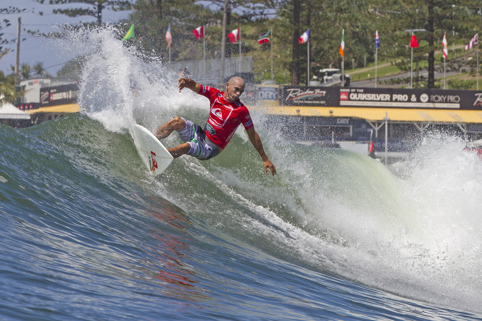 Kelly Slater looks ominous, rumours of this being his last year on tour will perhaps have condensed his ambition.
