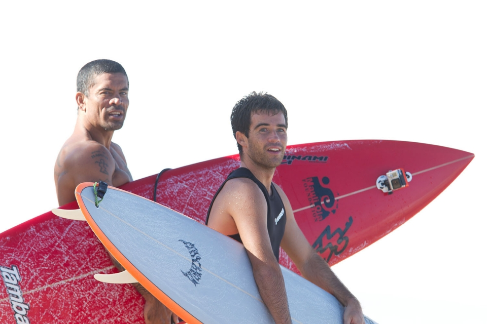 Expressions of stoke. Kala Alexander and Mason Ho.