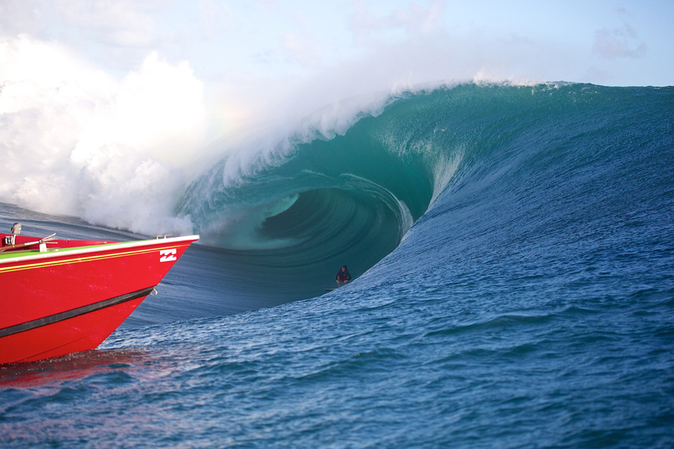 Keala's a regular at Teahupoo.