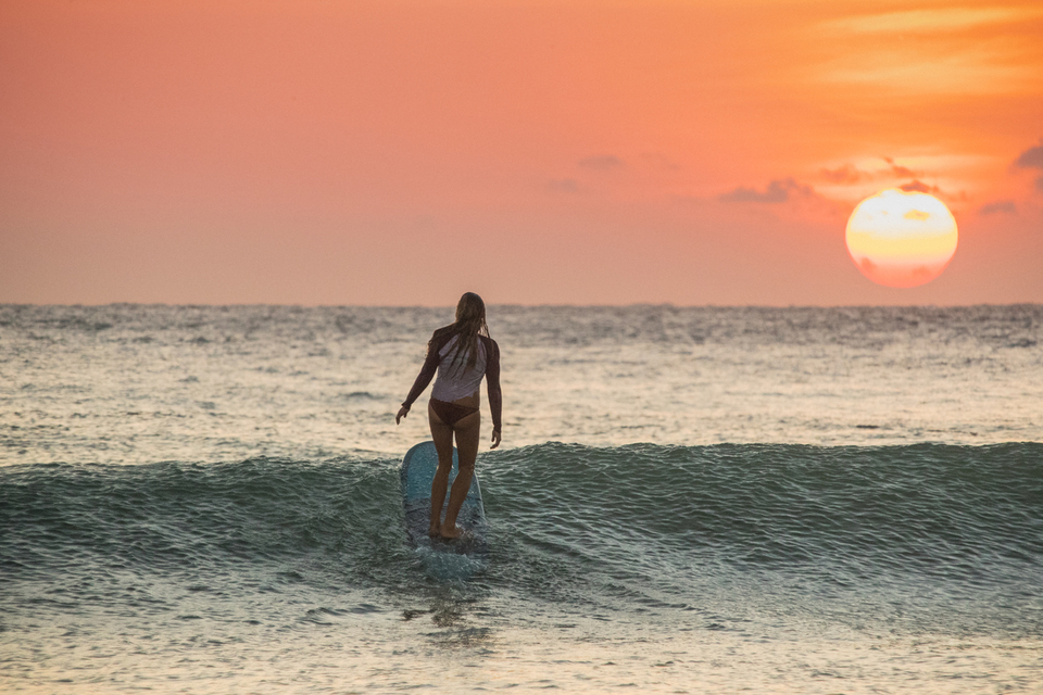 Sri Lanka can provide the perfect canvas for longboarding particularly in the morning before the winds are up.