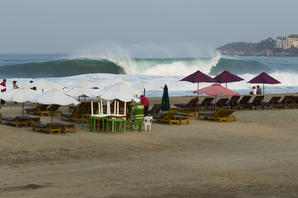 The classic Puerto Escondido line up shot.