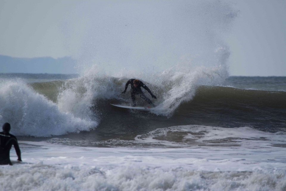 Lyndon Wake full fat man turn at Croyde on March 30th.