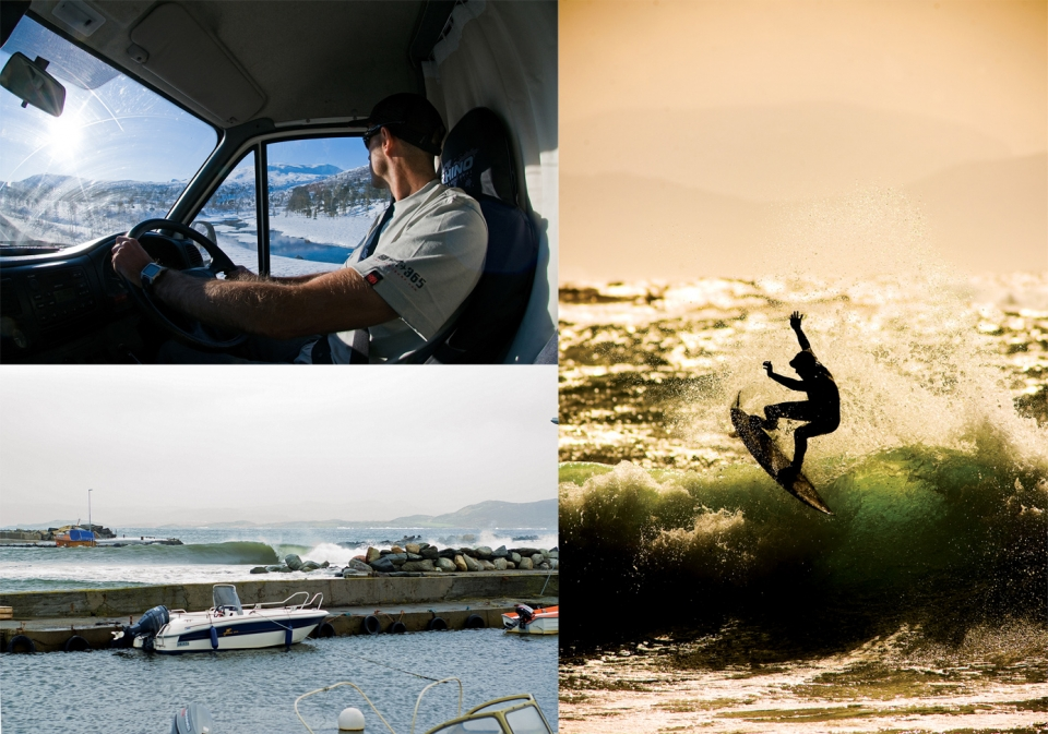 Ian spent months in Norway, he drove his trusty Transit van from Jersey all the way to the Arctic Circle in search of surf.