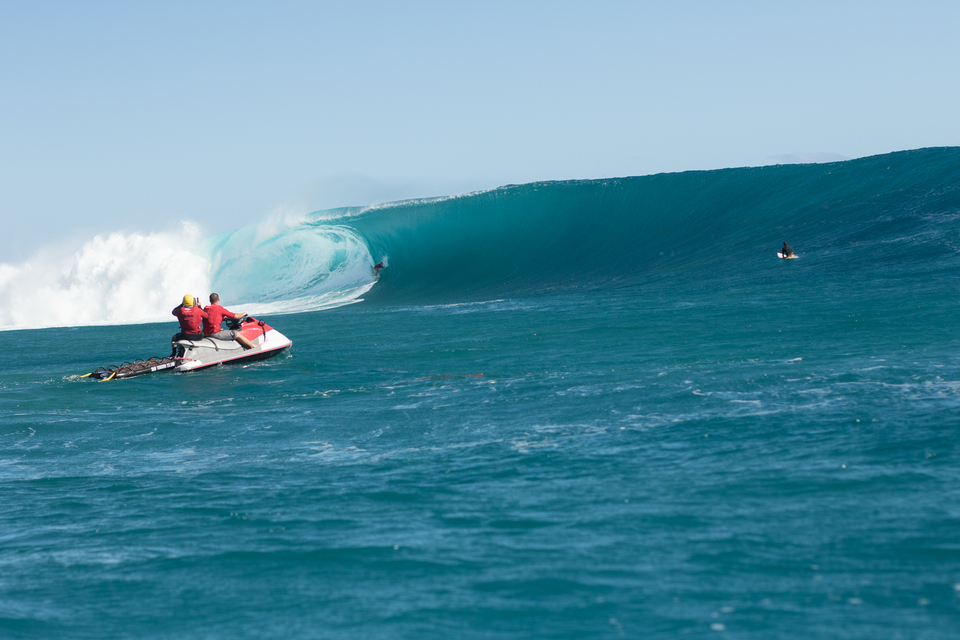 Mark Healey on one of the bigger waves of the day.
