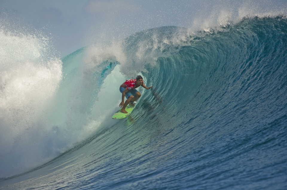 Medina could hardly buy a wave in his heat.