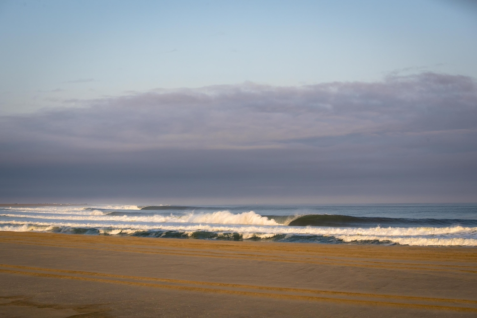 An early morning look at the bottom of the point everyone was talking about before the swell hit -