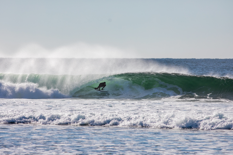 On the other side of the Atlantic, Shawn Casey lucks into a Nova Scotia tube.