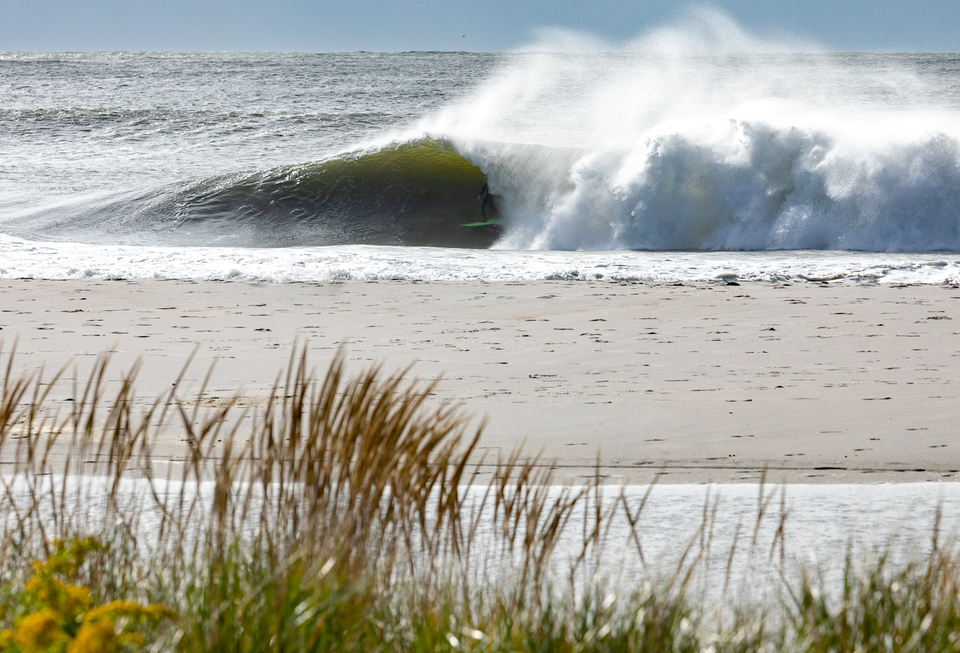 Mike Gleason pulls in to a classic east coast keg.