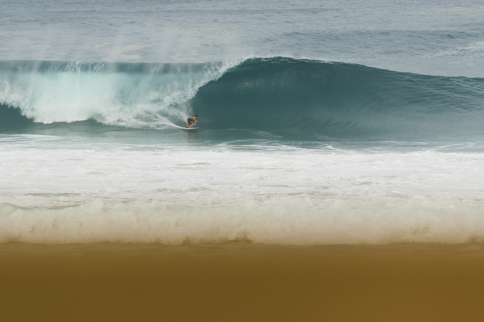 Moroccan Othmane Choufani has been putting in the time at some of the most volatile places around the world including some big wave spots at home. But here, he reaps the rewards.