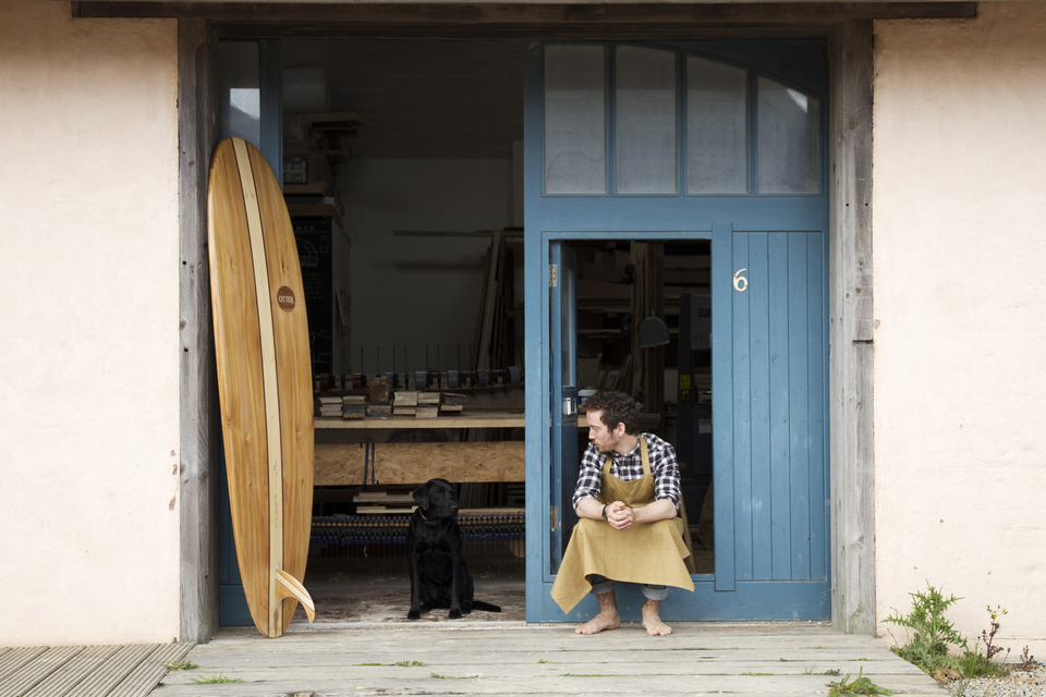 This is James Otter, of Otter Surfboards in Cornwall, UK. He creates sustainably sourced wooden surfboards from scratch that will far outlast the foam and fibreglass equivalent.
