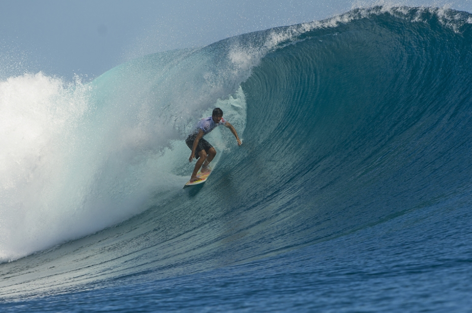 Pupo given a free hall pass by Kelly Slater went straight to the all you can eat.