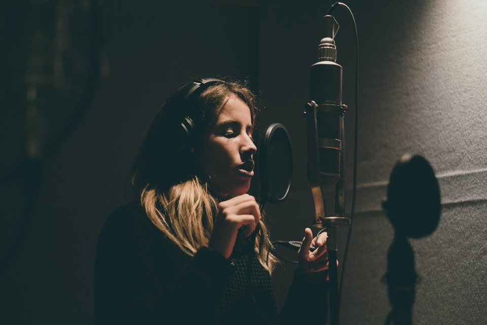 LeeAnn Curren recording at Abbey Road Studios.