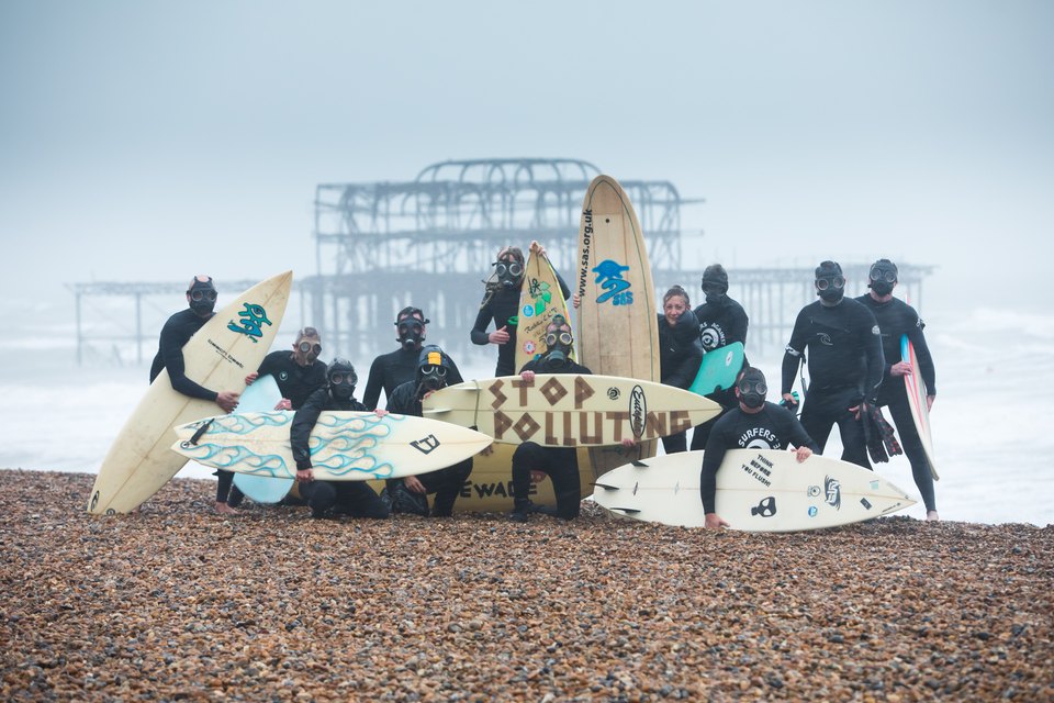 SAS staged a protest in Brighton over the weekend.