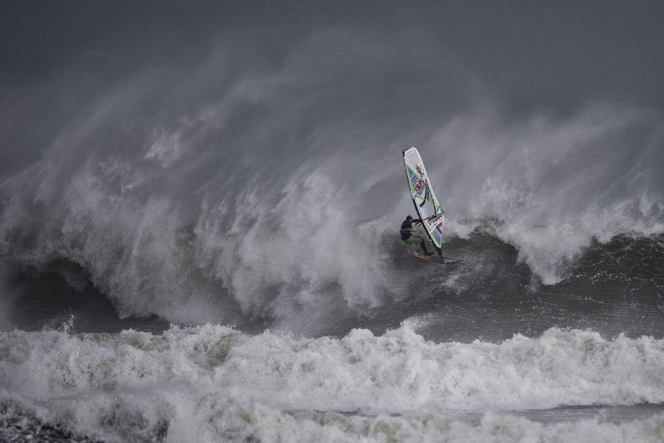 Germany's Dany Bruch on his way to a fourth place finish at the Red Bull Storm Chase event.