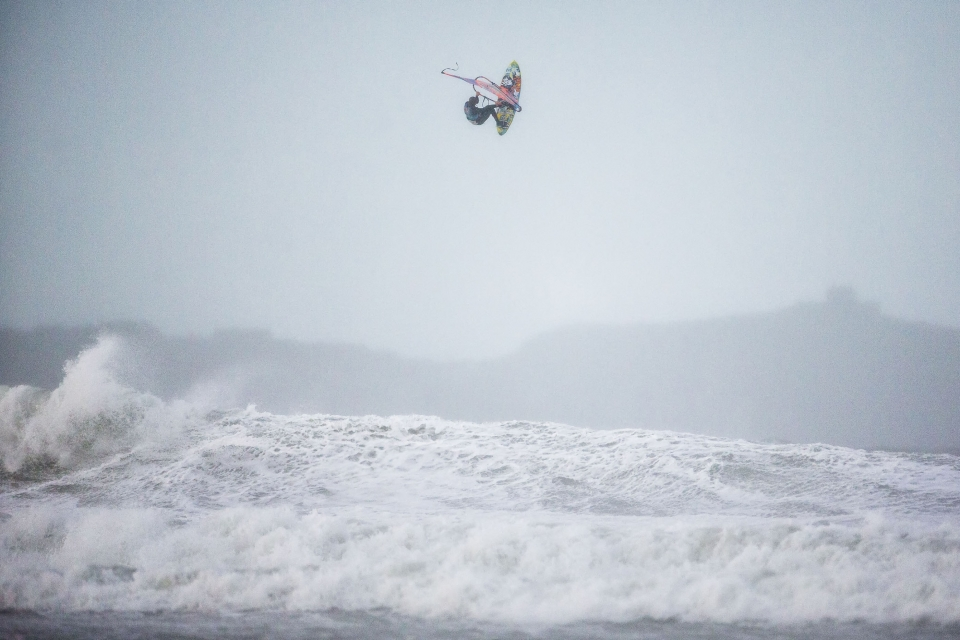 Thomas Traversa on his way to winning the  Red Bull Storm Chase  event in West Cornwall. In such conditions, few sports can harness the elements like windsurfing.