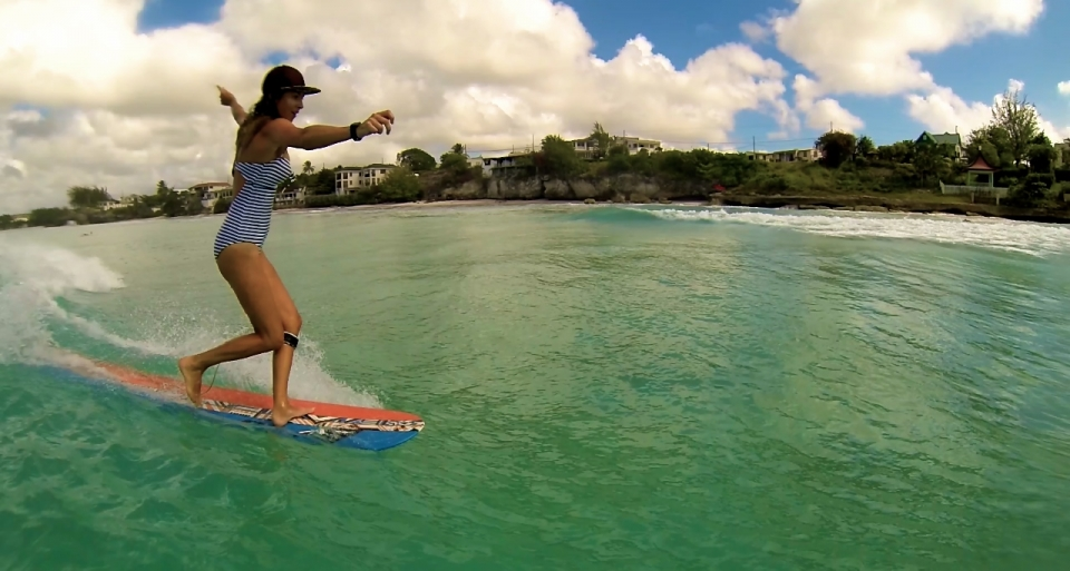 Barbados proved such a romantic destination that Adam popped the question to his girlfriend, Holly Reed, at the end of the trip, receiving an answer in the affirmative. Holly also shreds on a log and filmed the edit above.