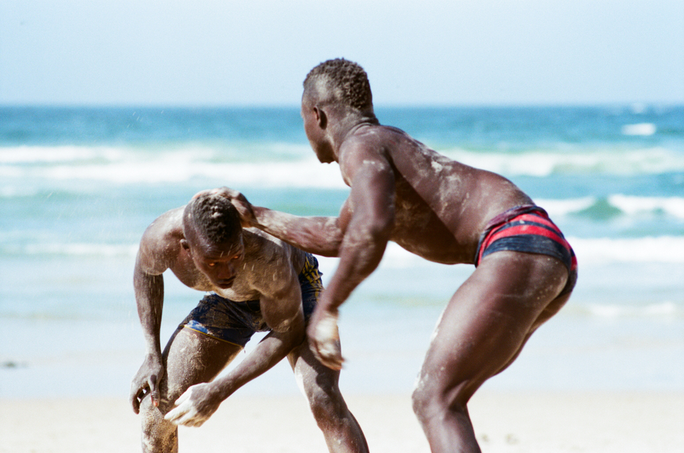 Wrestling in Senegal, amongst the culture.