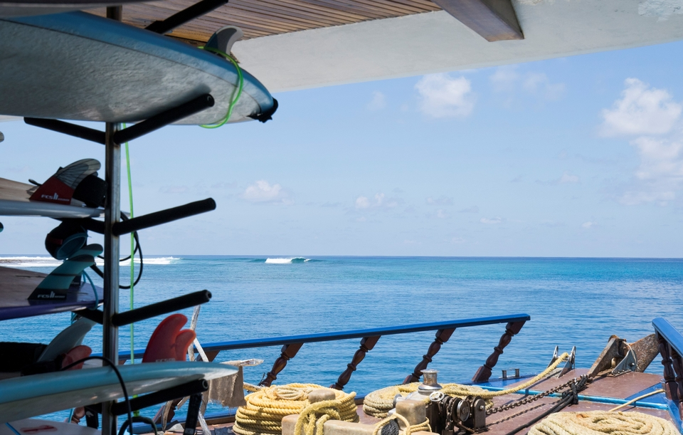 Stack the quiver and enjoy the Sharifa in the Maldives.