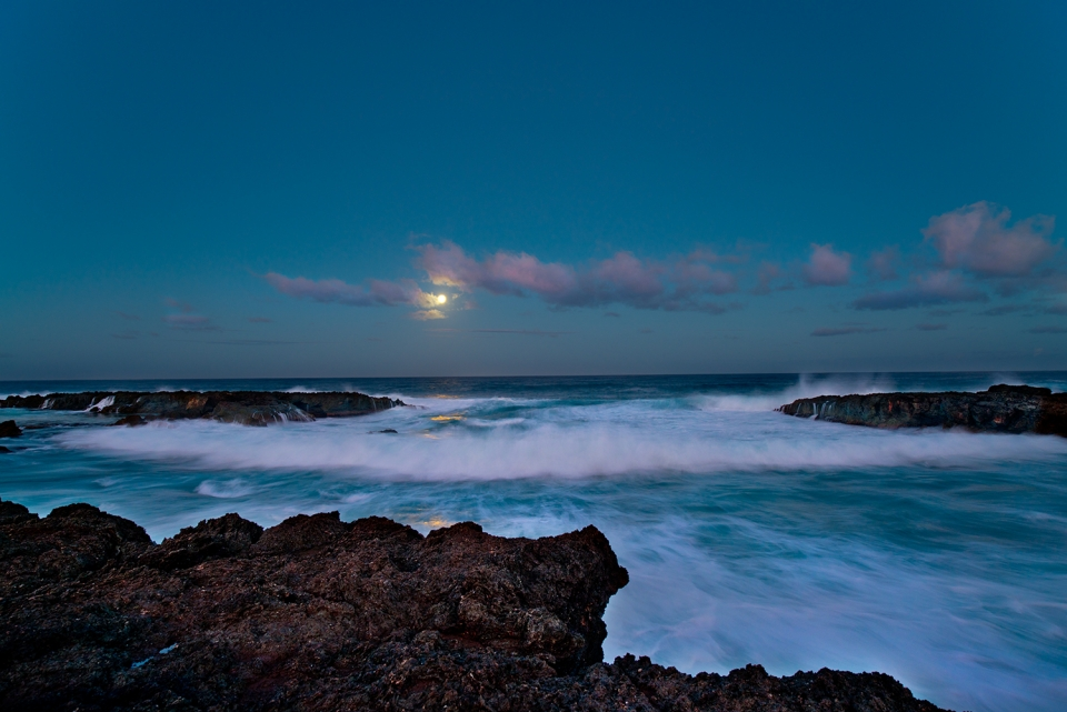 Sharks Cove by moonlight.