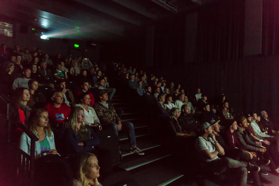 Packed out Model cinema for the shorts competition.