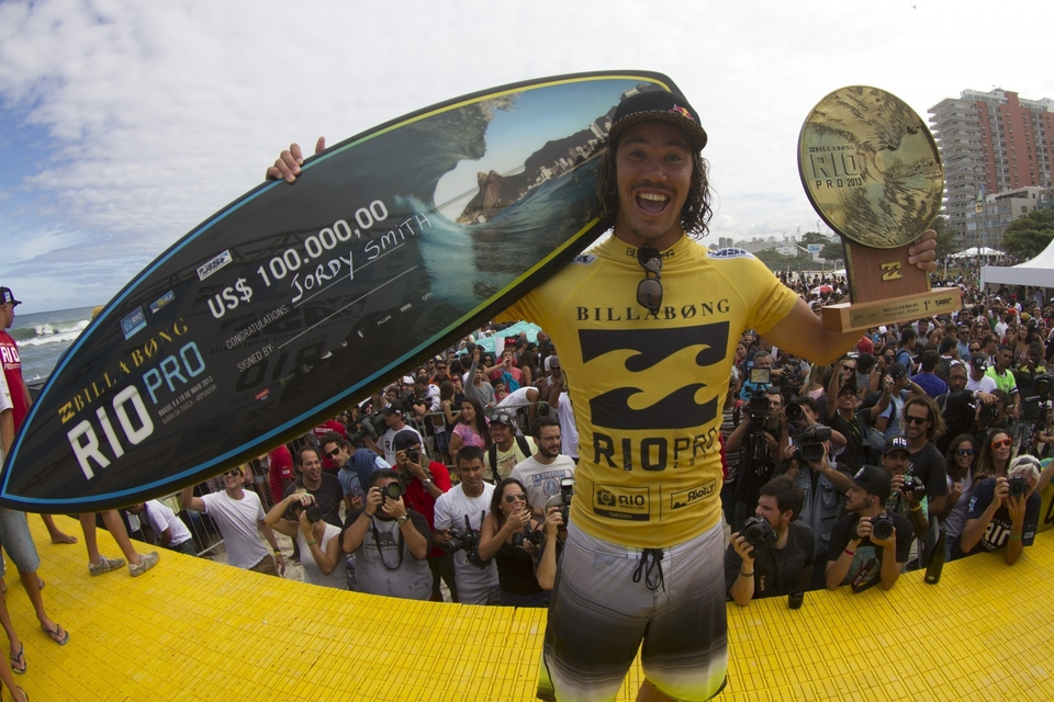 Jordy now sits at number two in the world with Mick Fanning, Kelly Slater and Taj Burrow all below him.
