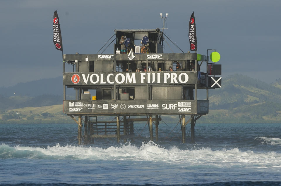 In 2002 Nathan Hedge slept out on the younger sibling of this tower determined to be first in the water the next day.
