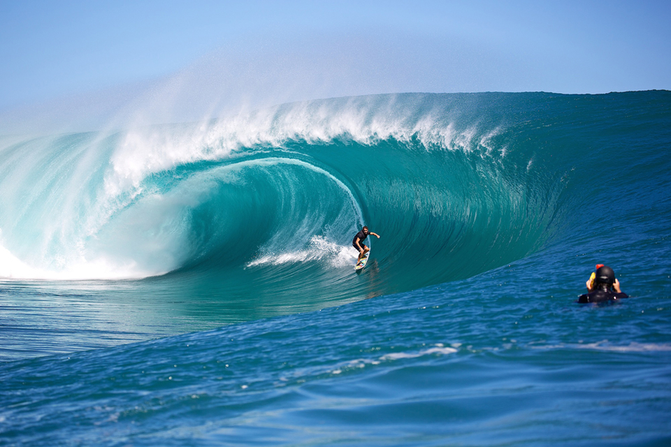 Koa Rothman from Hawaii is officially part of the furniture every time Teahupoo cranks up the scale.