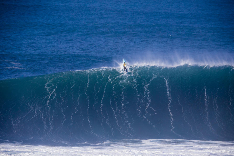 One of those moments...Grant Twiggy Baker, at the maiden Nazare event, compliments of magicseaweed.com