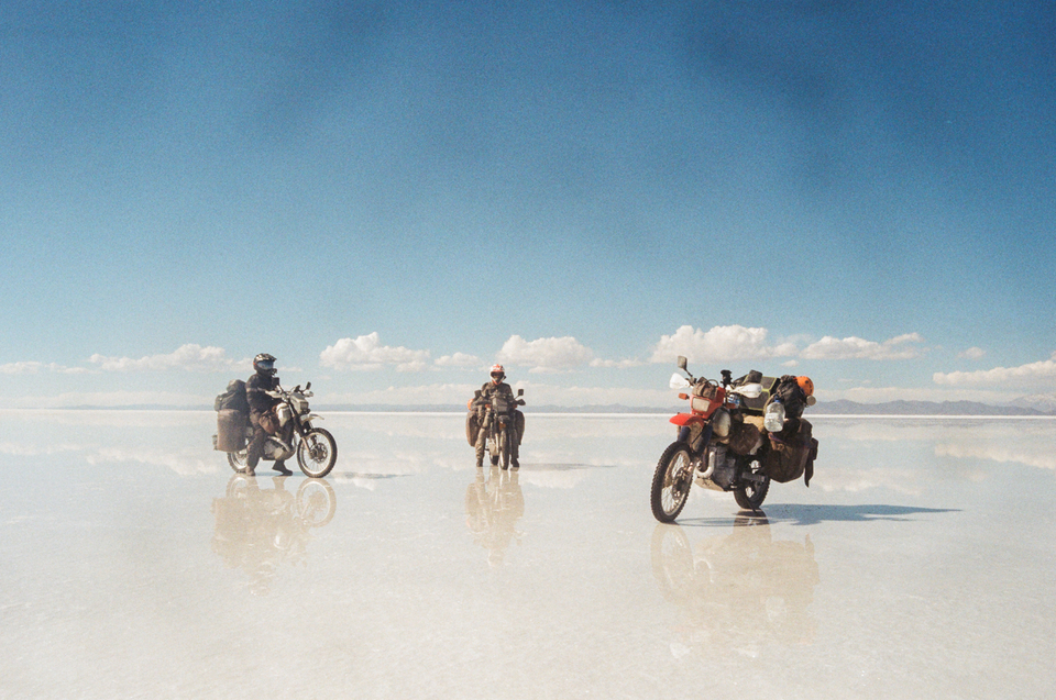 Somewhere in the Bolivian salt flats.