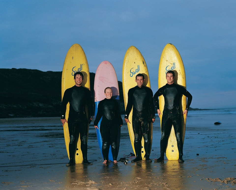 Caswell Bay is the perfect spot for beginner surfers.