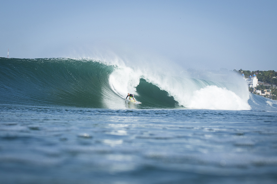 Local, Coco Nogales at home. Which just happens to be Mexico's most famous beachbreak.
