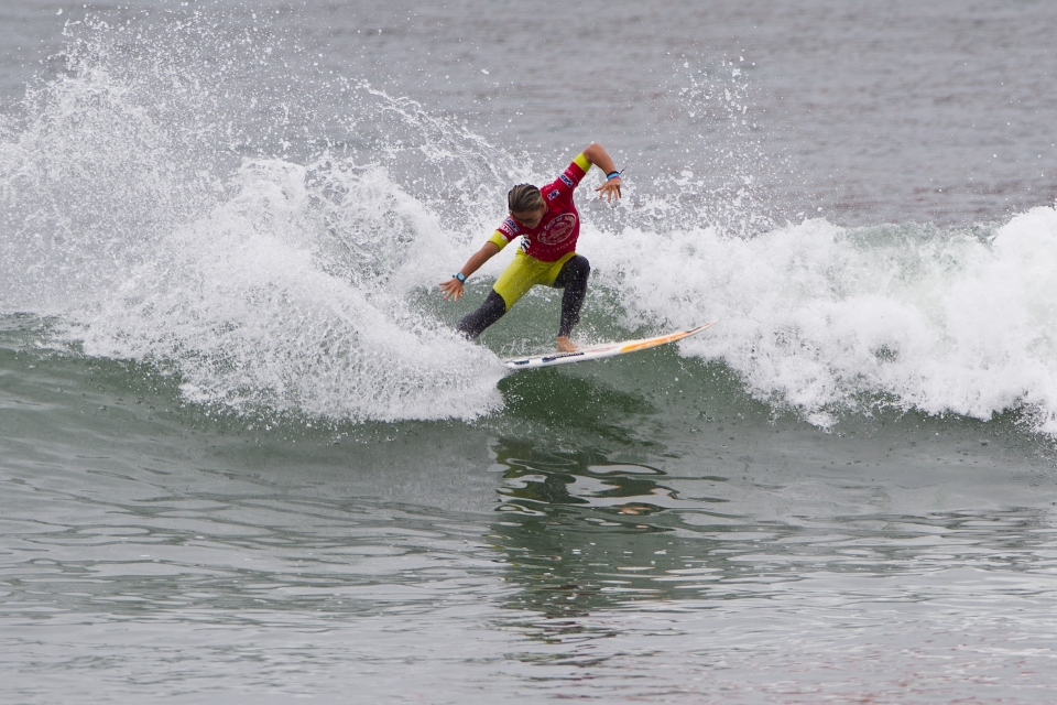 """""""It was definitely an amazing heat and Carissa, she's been surfing really well,"""" Conlogue said. """"With everyone screaming and the crowd on the pier I was definitely wanting to win. I was trying to be progressive and surfing the best that I could."""""""
