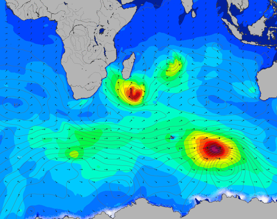 Tropical Storm Enawo sets up to pump swell towards South Africa having already passed over Madagascar.