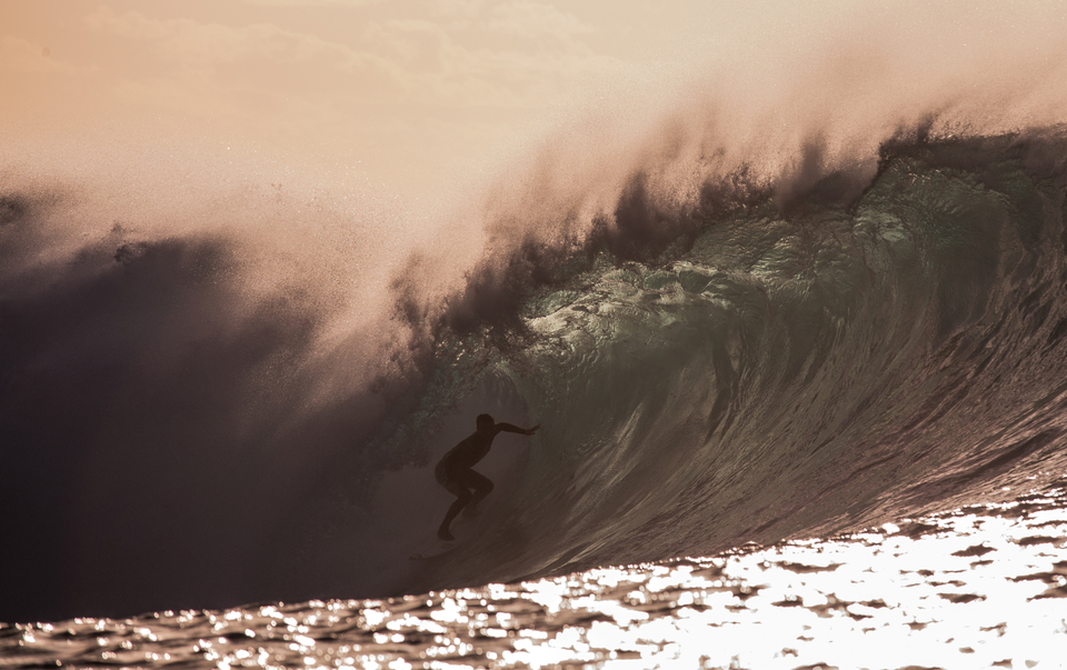 Gearoid McDaid's no stranger to heaving tubes, here's Lanzarote.