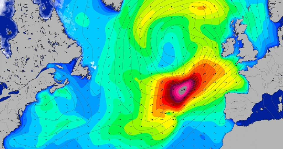 Storms like Diana, who recently pummelled Europe (and delivered, if you knew where to look) are semi-frequent throughout the winter months and can send swell to the furthest reaches, or drive a pulse into the bay of Biscay. Don't forget to check the charts, here.