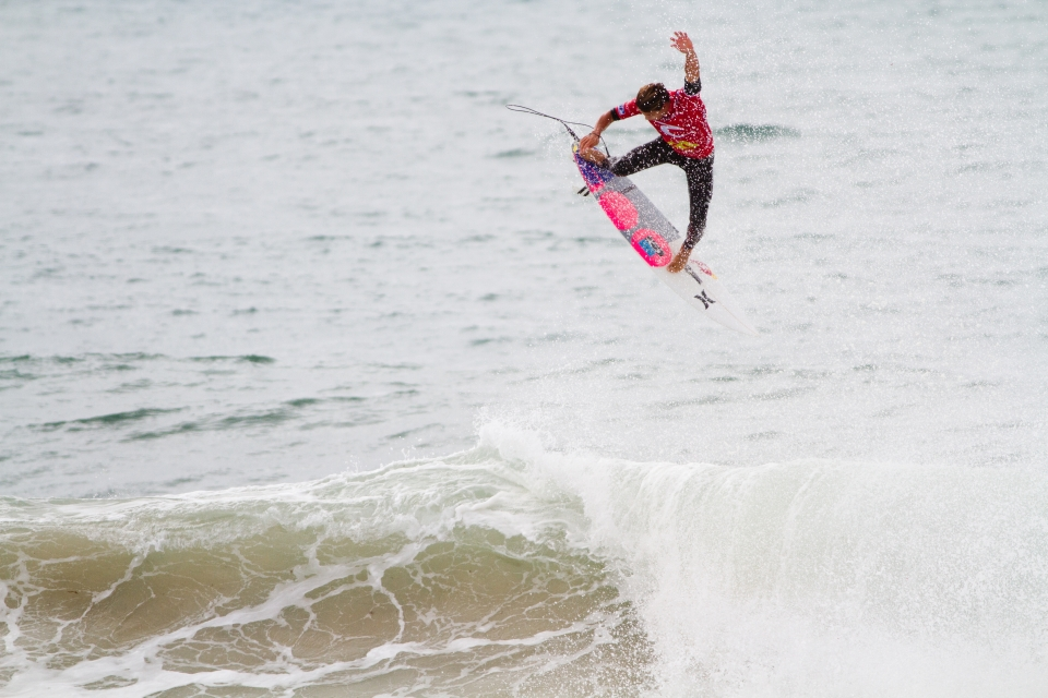 """Wilson stole the show today with a huge alley-oop landed clean.  """"That's the thing I love about competition, you put yourself in those situations where you don't even for a second think about not making it,"""" Wilson continued. """"In a freesurf I probably would have pulled the eject button like halfway through that air, that was for sure the biggest alley-oop I've ever done."""""""