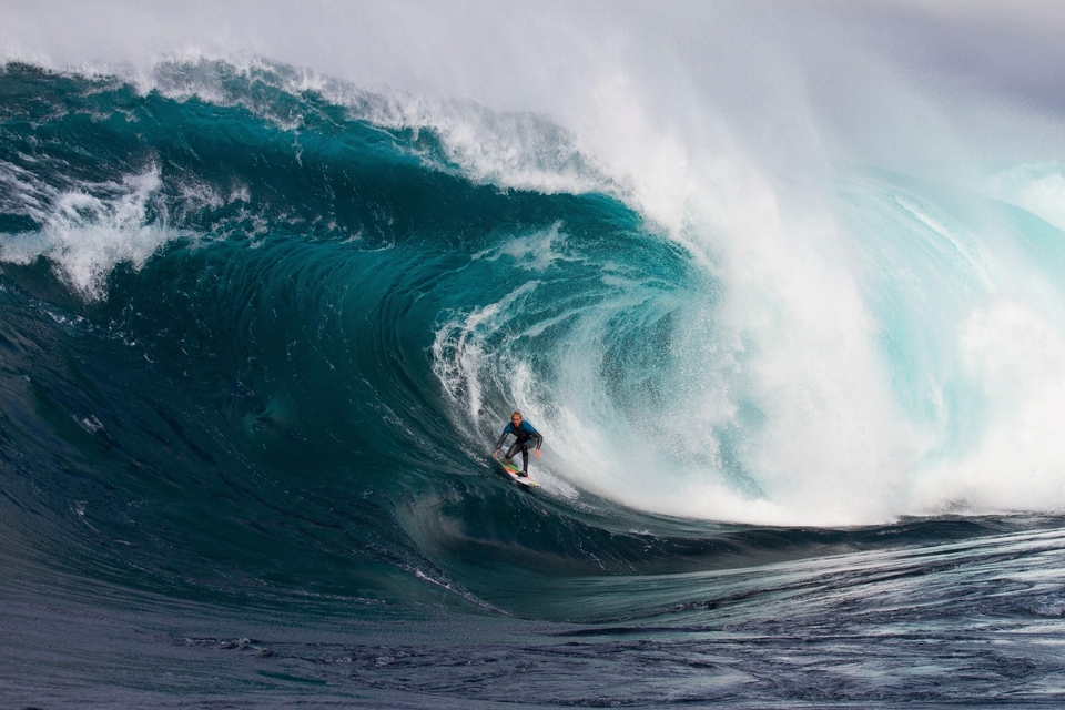 Mark negotiating with that infamous step at Shipstern Bluff.