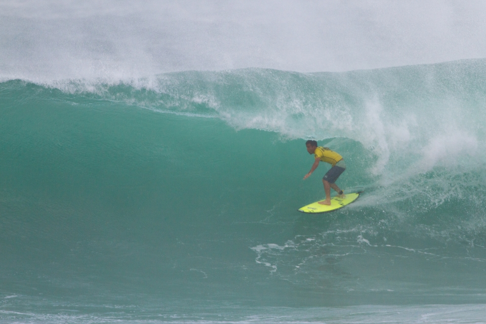 This tube was the highest scoring wave of the final, edging the Sunset veteran, Pancho Sullivan.