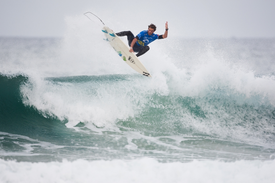 """""""I can't believe it right now, it was a tough heat and I knew Kelly (Slater) could get the score whenever,"""" Morais said. """"Against Kelly Slater, you're never safe, but I knew with that second good score it was possible and I tried to focus on doing my job and it worked."""""""