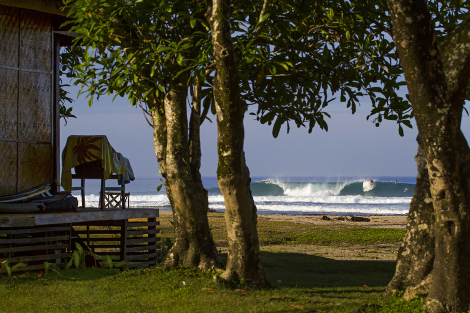 Room with a view... What better place to heckle your mates surfing, than from the comfort of your bungalow?