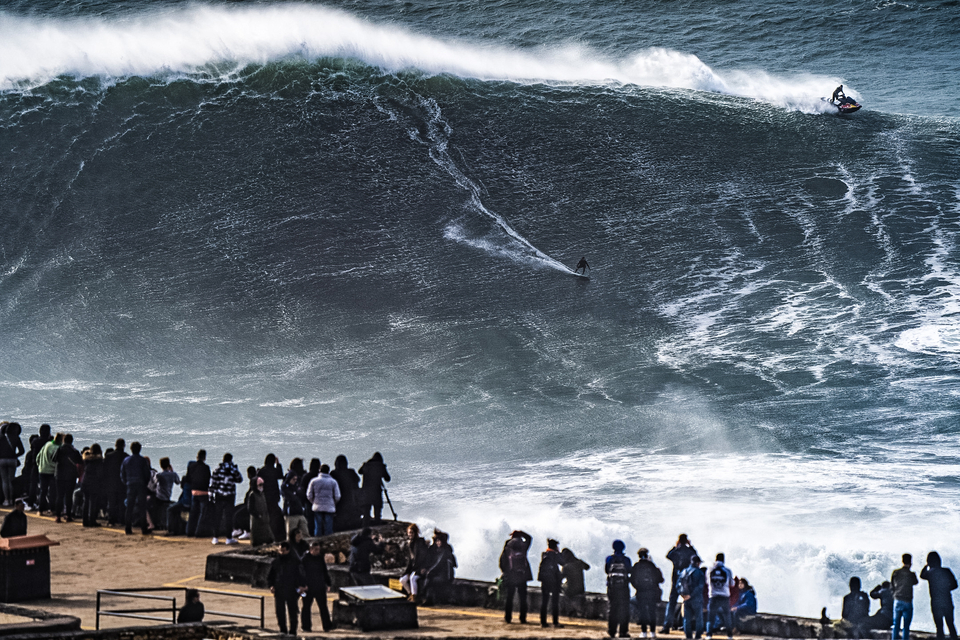 Ian Walsh surfed one of the tallest waves from Nazare's 10-day pumpathon.
