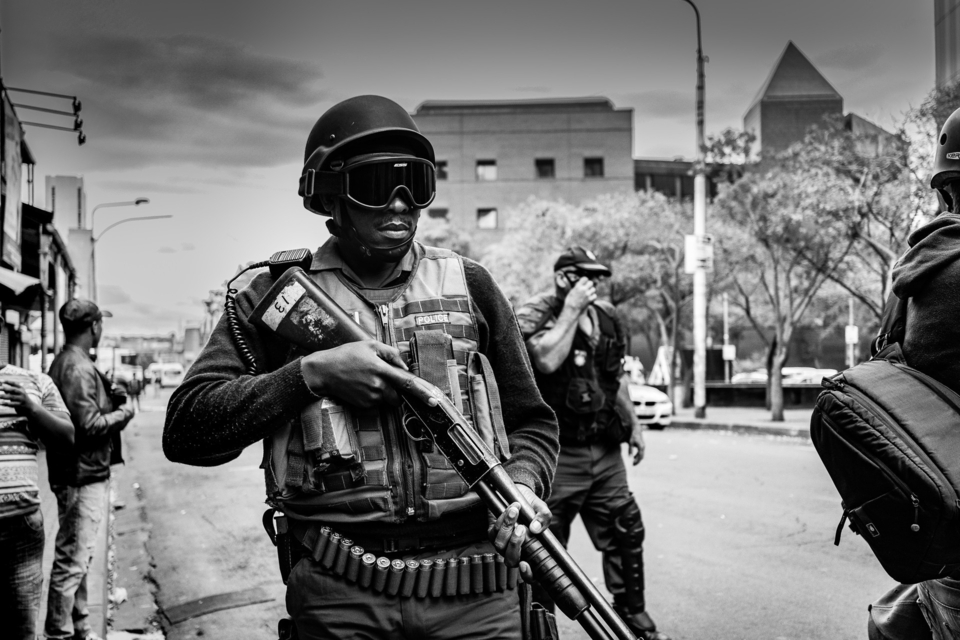 Patrolling the streets in SA.