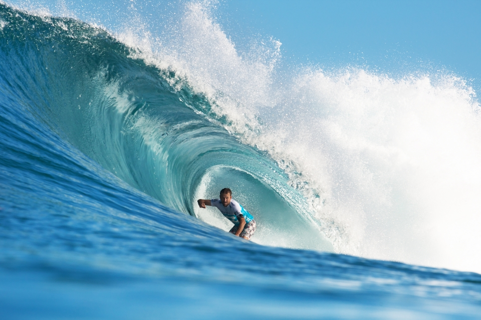 Kieren Perrow's campaign was cut short by an awkward wipeout and subsequent dislocated shoulder. He still squeezed in a couple of Backdoor bombs before bowing out.