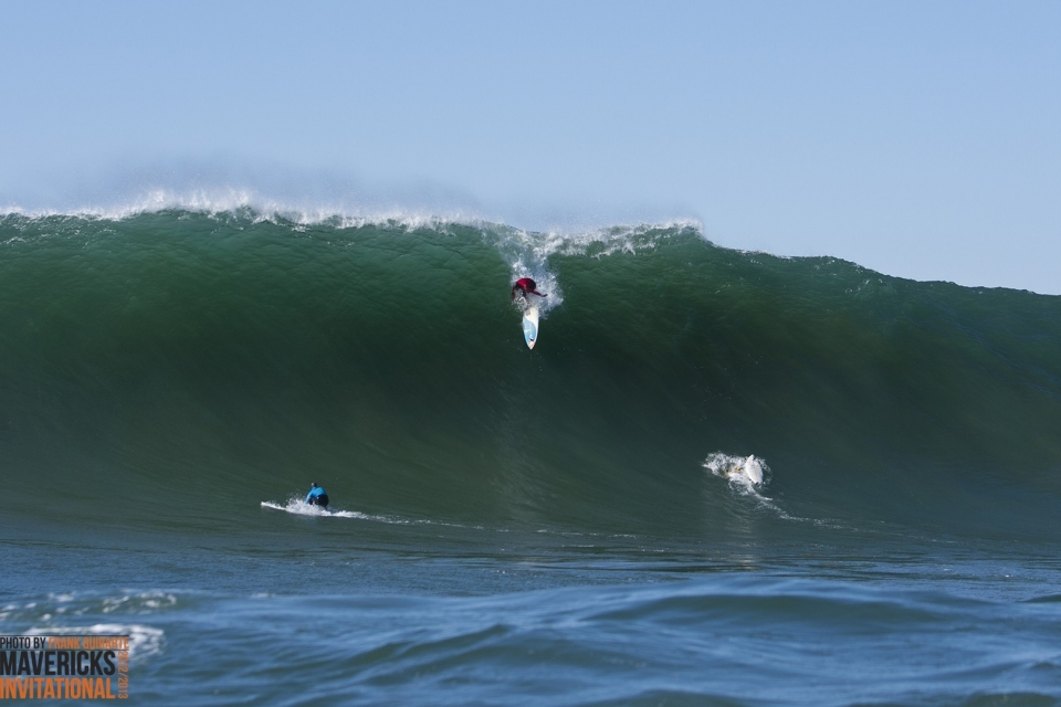 Peter Mel on his way to taking out the 2013 Mavericks Invitational.