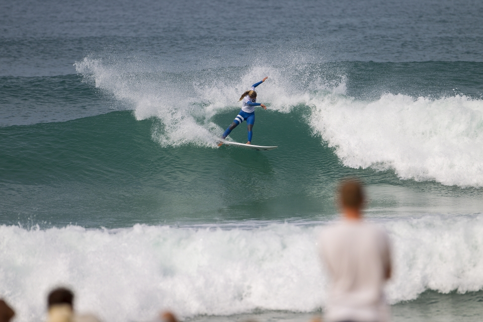 Lakey Peterson shows some power.